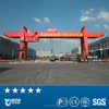 workshop used 20 ton double girder gantry crane for lifting steel plate and fabrication