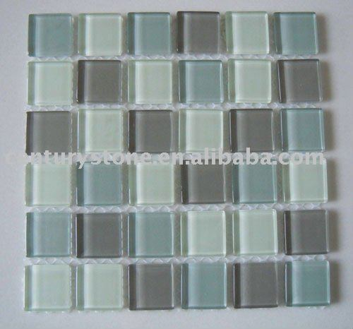 4mm Majestic Ocean Crystal glass mosaic tile