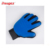 Factory Silicone Five Finger Deshedding tool pet Dog Massage Brush Dog Cleaning Bath Hair Grooming Gloves