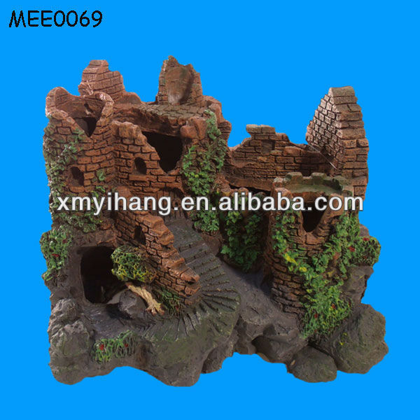 Forgotten Castle Ruins Fish Tank Decoration Aquarium Ornament ...