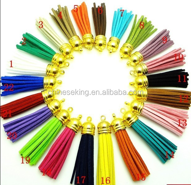 Assorted Colors Tassel Charm,Brass Bag Charm, Leather Purse Charm Accessory