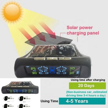 Automatic Solar Power LCD Display Car Wireless 433.92 Mhz GMC Tire Pressure Monitor