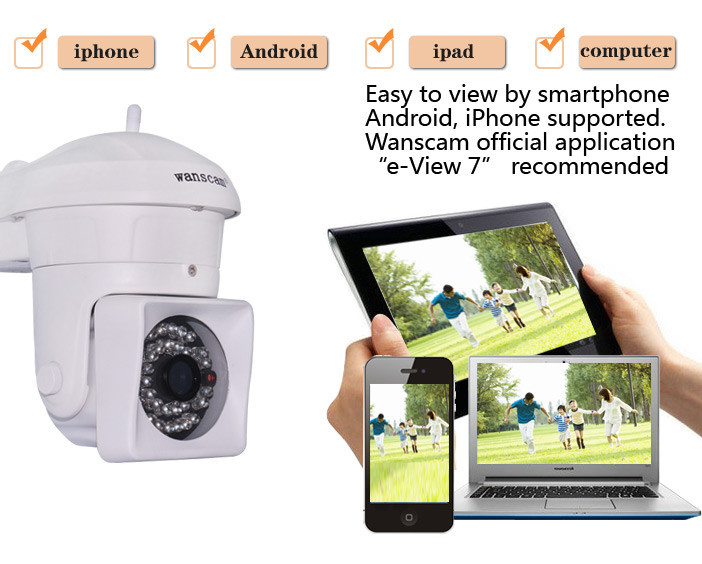 WANSCAM HW0023 1MP HD CCTV Home Security Wifi Bullet IP Cam