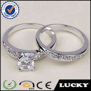 High quality dongguan factory wholesale wedding engagement rings with zircon