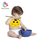 Soft Waterproof Silicone Bib With Pocket For Feeding