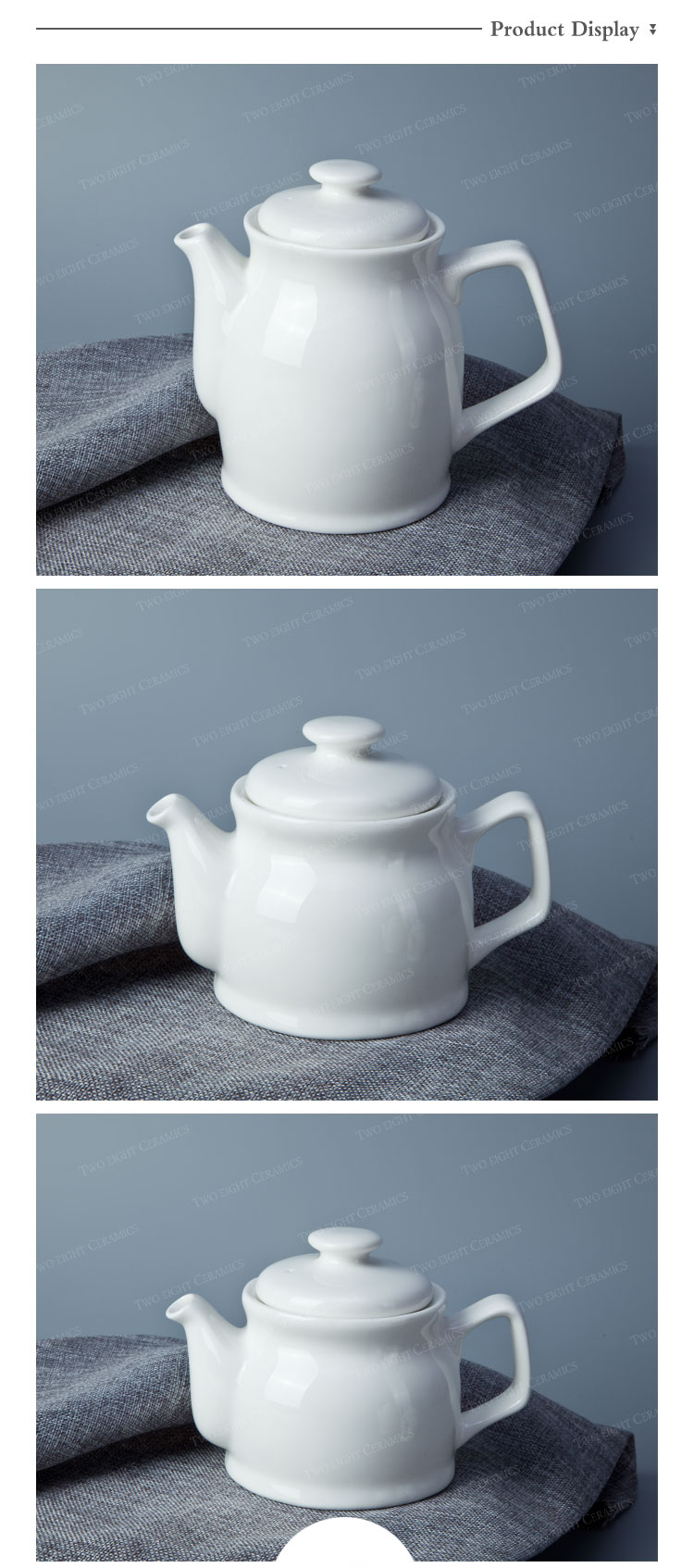 Catering banquet wedding for sale Chinese style plain white porcelain teapot
