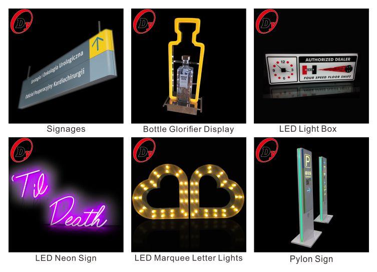Großhandel led beleuchtete acryl alphabet brief zeichen angepasst großen 3d kunststoff acryl buchstaben für signage