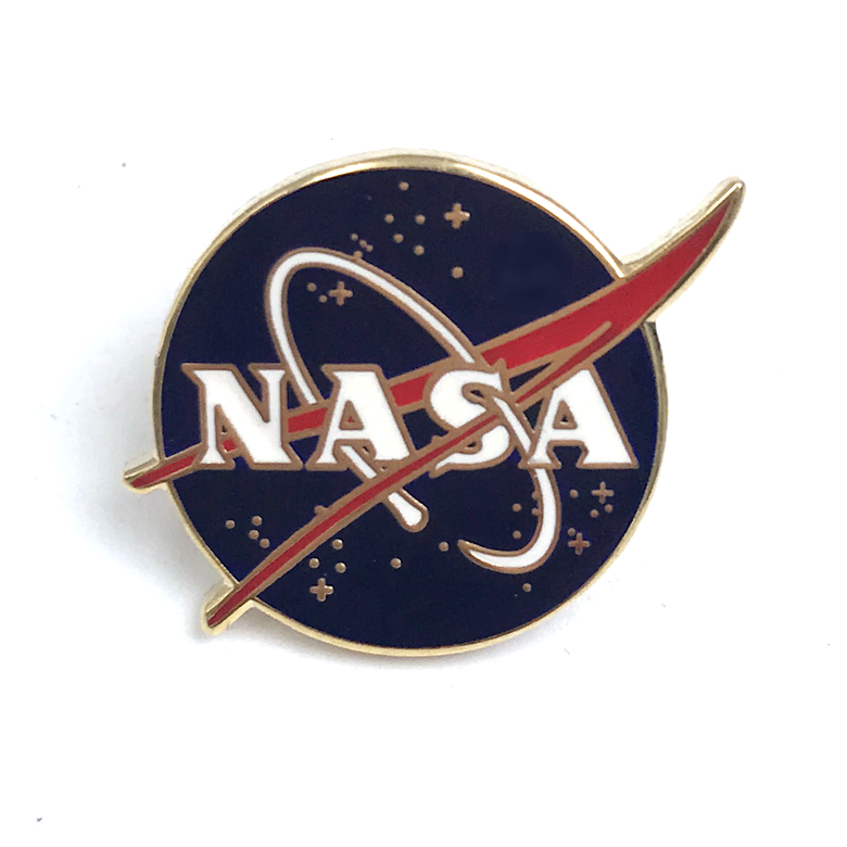 Custom sm-ml102 nasa motivazionale pins