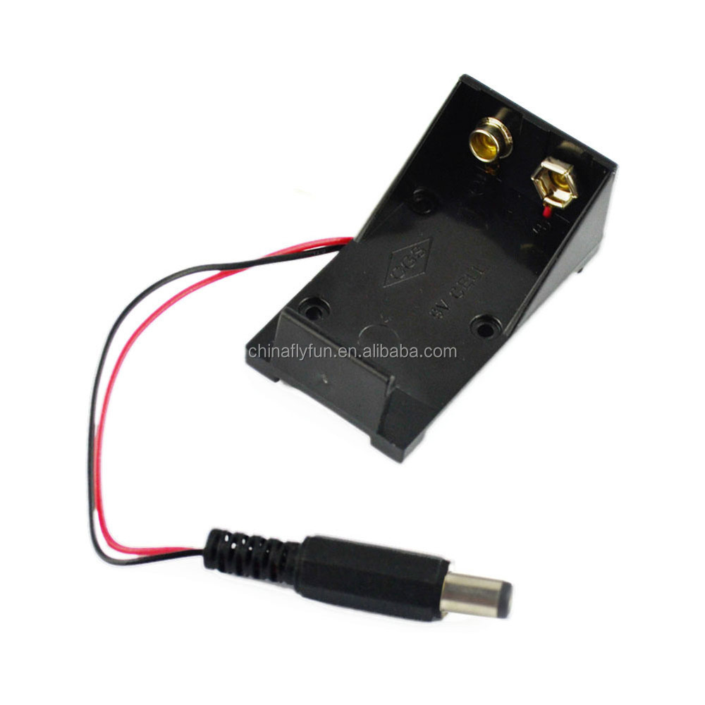 9v Battery Holder Box Case Wire With Plug 5.5*2.1mm For Arduino ...