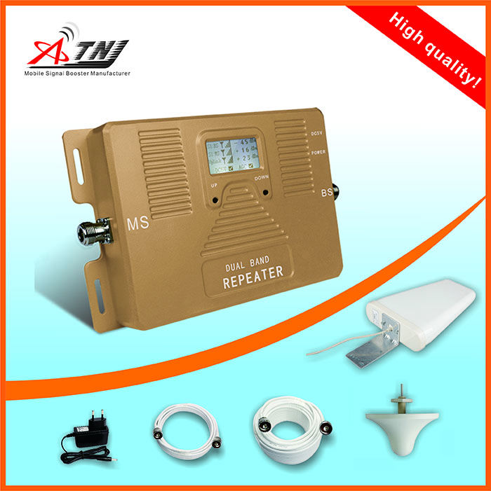 Worldwide suitable mobile signal booster GSM 3G 4G repeater 900 2100mhz amplifier using for office home