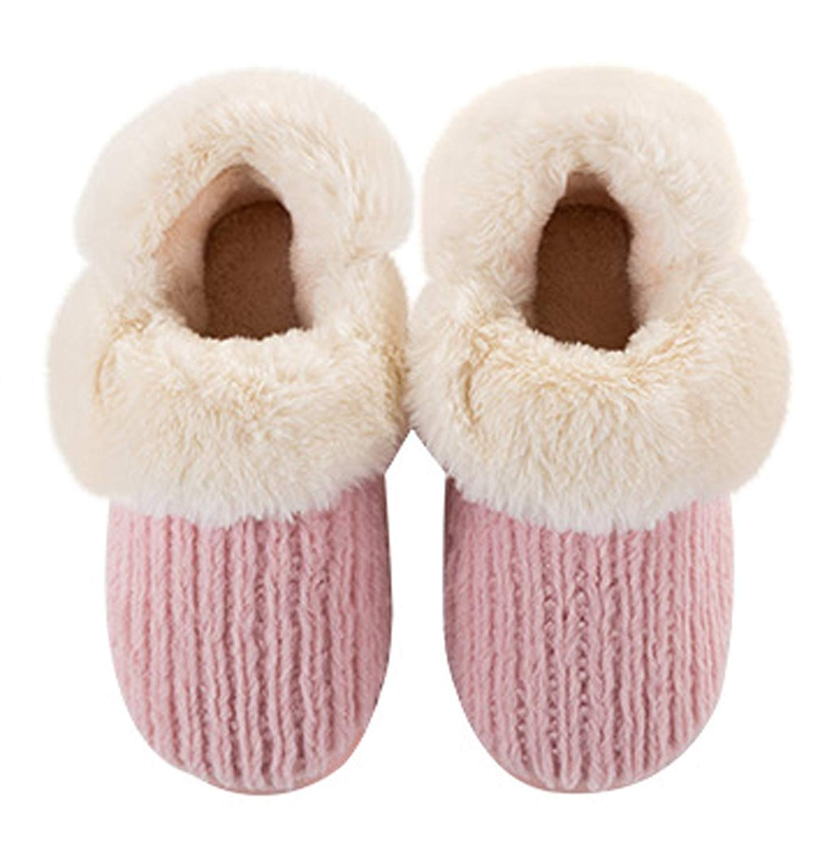 Cattior Womens Fleece Warm Slipper Shoes Knitted Slippers
