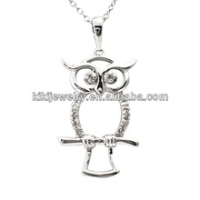 new product owl pendant necklace imitation jewelry