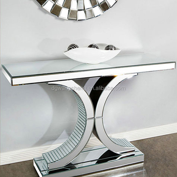 Attirant Modern Living Room Double C Mirror Console Table