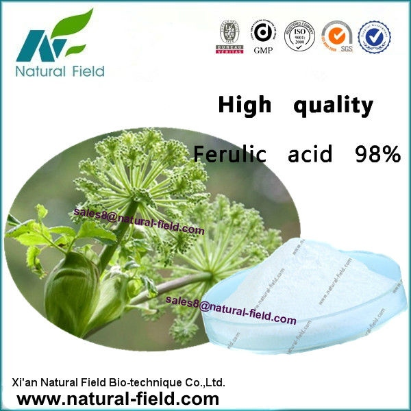 natural ferulic acid 98% powder, Cas No.:1135-24-6