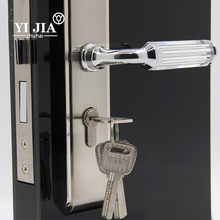 upgrade card key door handles and locks hotel door lock