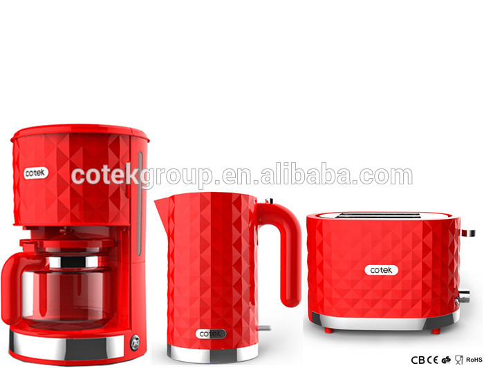 Charming Diamond  Breakfast Set Red