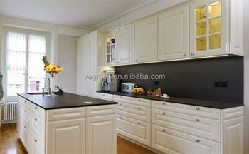 Hitam Granit Meja Dapur Putih Diukir Kayu Pintu Lemari Dapur Untuk
