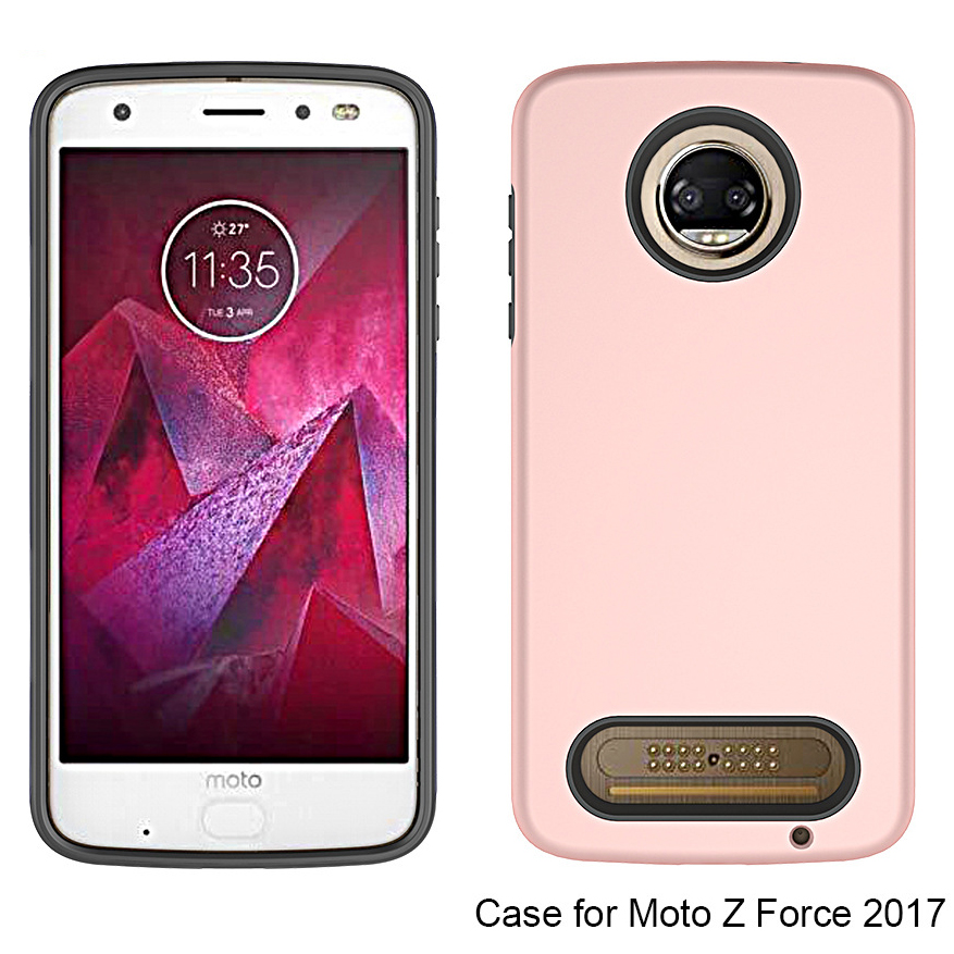 For Moto Z2 Force Case Cover, tpu pc simple armor case for Moto z2 force