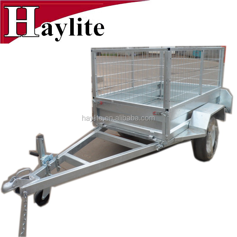 New Zealand 8x4 2 wheel atv utility box trailer with frame
