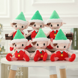 Wholesale Customized 30cm Cute Cartoon Christmas Elf Stuffed Gifts Plush Toy