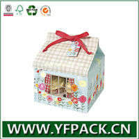 house shaped individual mini wholesale cupcake box with dividers