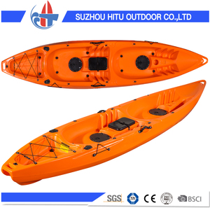 3.78m length PE material no inflatable plastic fishing boat