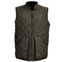 European warm padding quilted filler men waistcoat with nylon liner