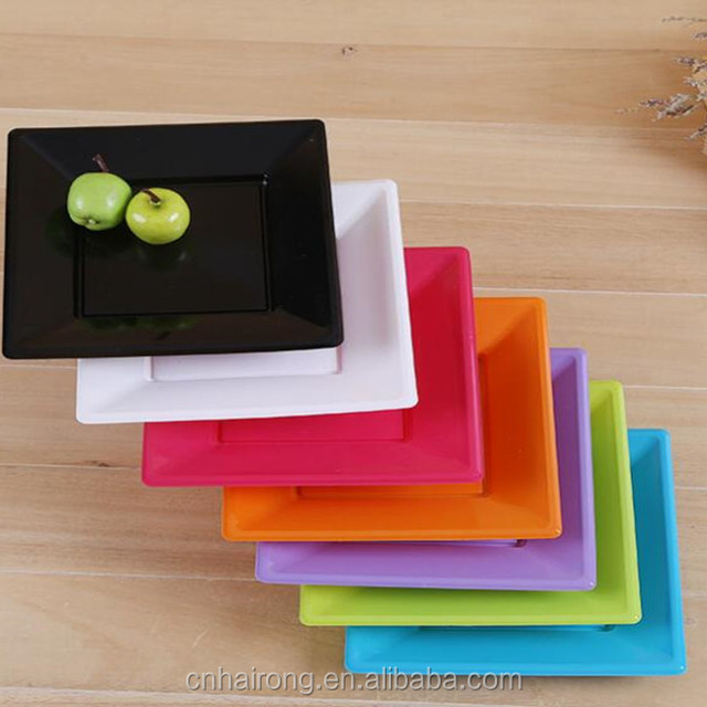 Colorful Disposable Square Plastic Plates & Buy Cheap China square color plastic plates Products Find China ...