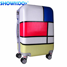 2016 Customized PC Hard Cartoon Characters Trolley Luggage
