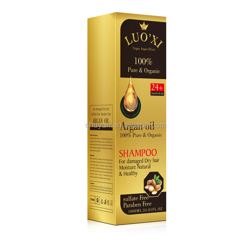 OEM ODM 100% pure & organic Argan oil shampoo for damaged dry hair Moisture Natural & healthy