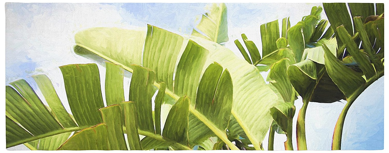 "KESS InHouse SC1106ABR01 Sylvia Cook ""Tropical Charm"" Blue Green Bed Runner, 34"" x 86"""