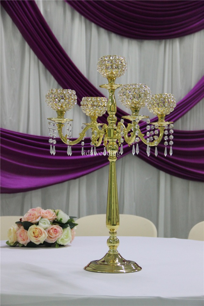 candleabra wedding centerpiece/wholesale candelabras centerpieces/crystal candleabra wedding decoration