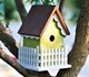 Bird's nest cage cheap cute pet decor wooden bird house factory in aviary China