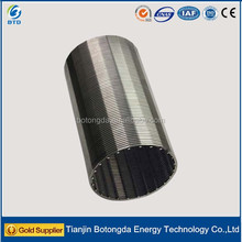 2016 Stainless steel liquid filter sieve tube/round filter/water well screen pipe from BTD