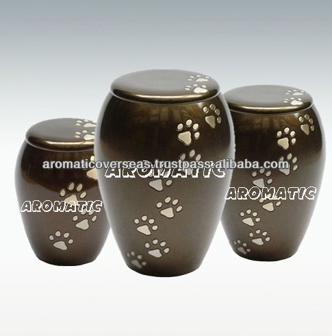 Monarch Paw Print Pet Cremation Urn
