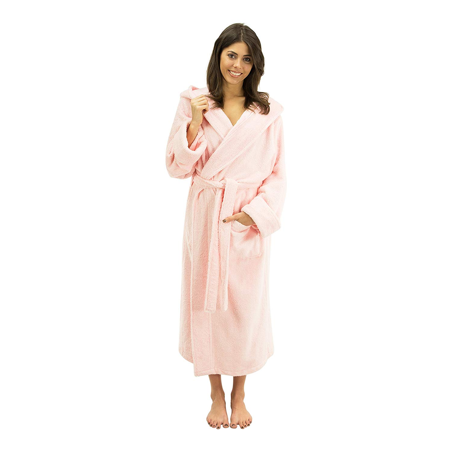 2561604eda Get Quotations · Comfy Robes Women s Bamboo Hooded Robe