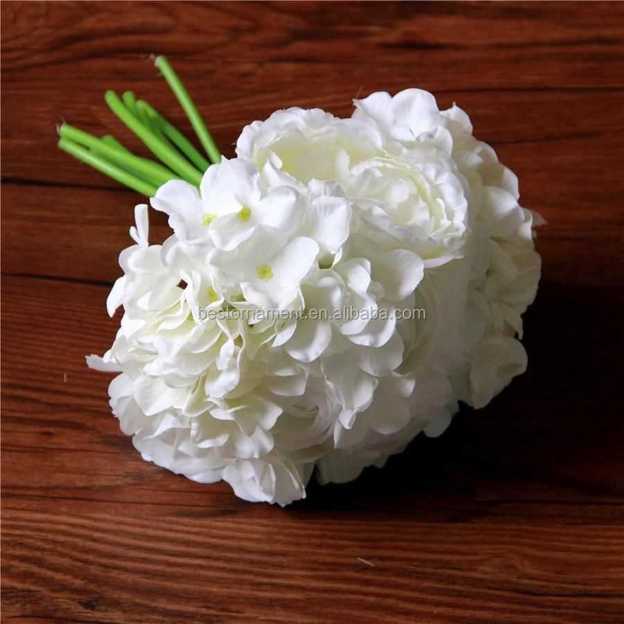 White Silk Posy Roses Flower Bouquets Party Wedding Bridal Bouquet