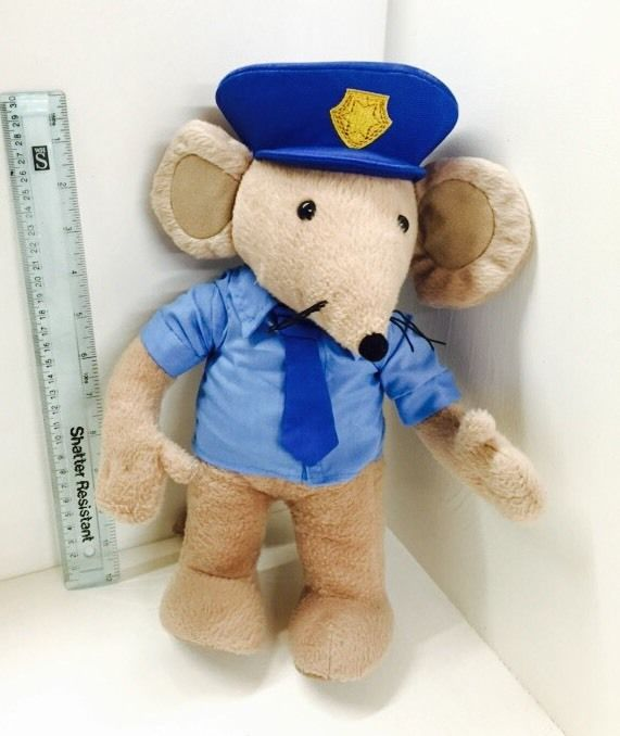 custom plush stuffed soft police mouse toy kid toy plush toy factory baby dolls
