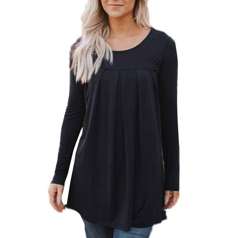 UPLOTER__Shirts Womens Long Sleeve Casual Pullover Loose Tops Ladies Casual Blouse