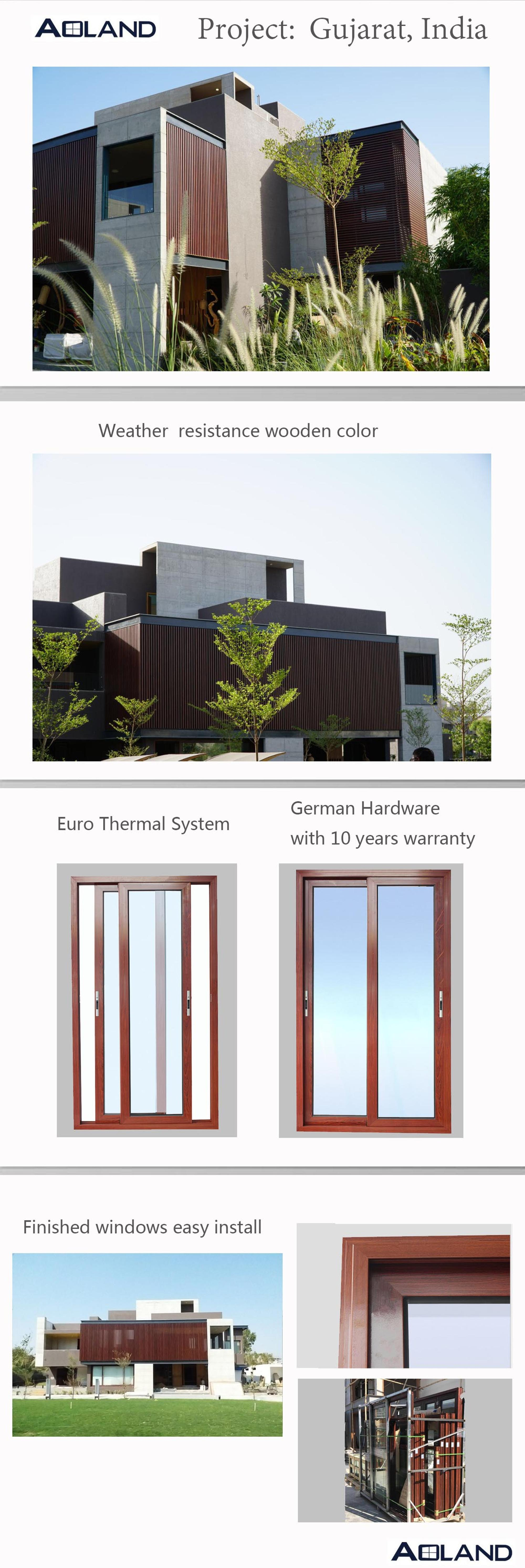 Durable commercial grade sliding aluminum doors partition for office
