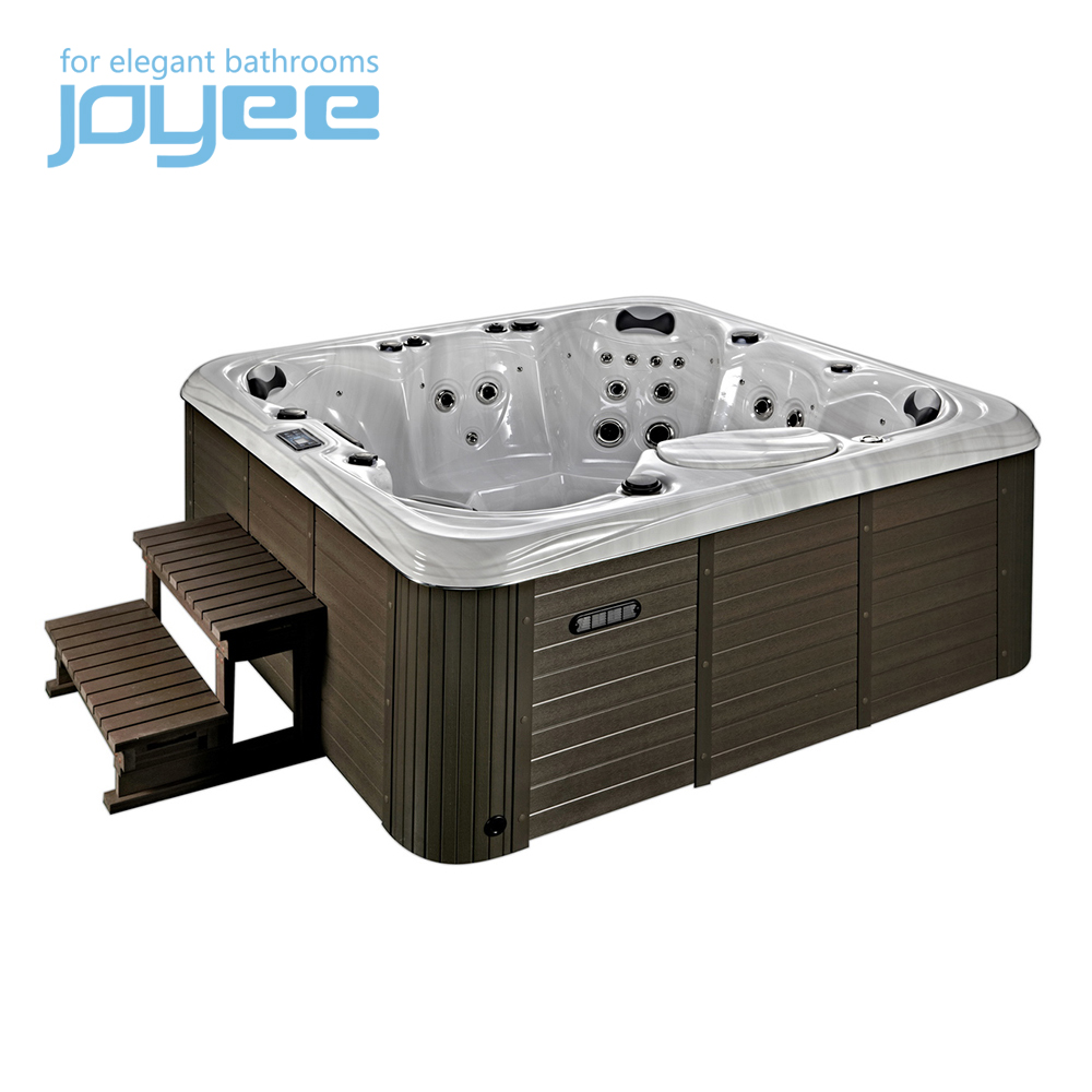 J-SLS878 6 mensen Pure Acryl luxe bad/outdoor spa massage whirlpool/hot tub