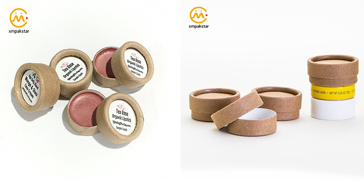 Wholesale custom paper tube biodegradable lip balm cosmetic packaging Round cardboard tubes