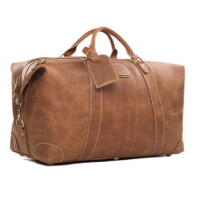 Leather Travel Bag Vintage Genuine Leather Holdall Leather Weekender Duffel Bag for Overnight