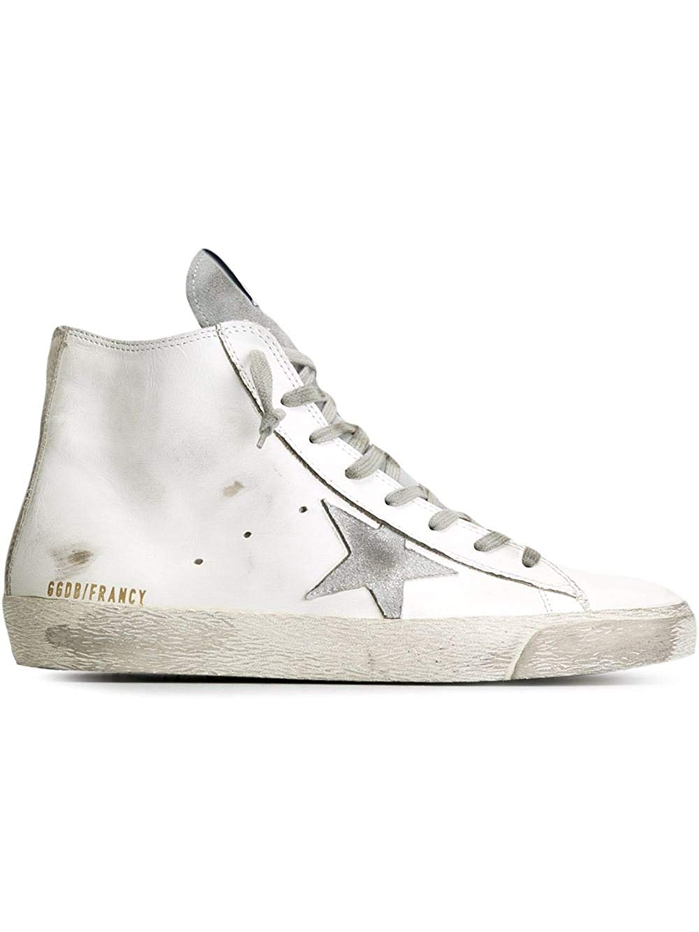 4aeccbc4a8c4 Get Quotations · Golden Goose Men s Gcoms591g3 White Leather Hi Top Sneakers