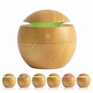 130ML Mini USB Bamboo Essential Oil Aroma Diffuser Humidifier
