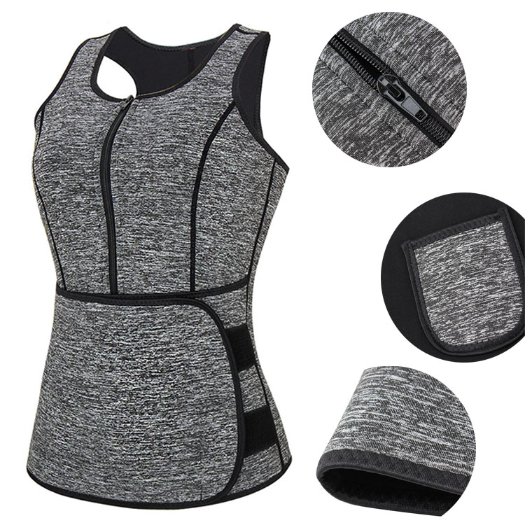 Amazon Hot Selling Women Sweat Vest Adjustable Neoprene Sauna Waist Trainer for Weight Loss
