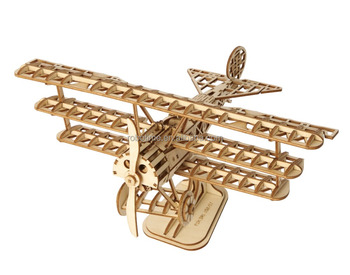 Educational Toys for Gifts Modern 3D Wooden Plane Puzzle