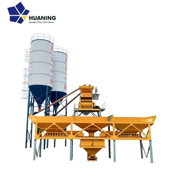 China 35m3/h mix concrete cement plant full automatic HZS35 concrete batching plant