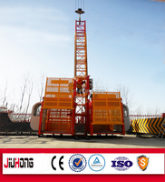 2T double cage construction elevators /passenger and material lift