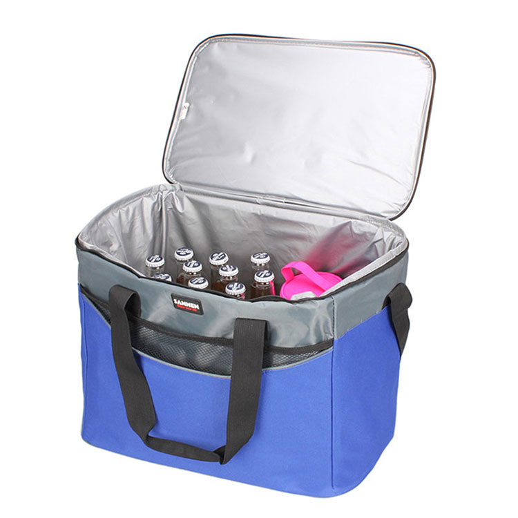 Wholesale high quality portable reusable recyclable custom logo insulated grocery refrigerator lunch cooler bag